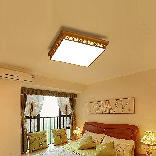 LEDパッチ天井ランプLZC三原色光源20.48インチ/ 52センチメートル四角形近代的な日本式木材アクリル酸ホテルの寝室リビングルーム会議室41-50W(木の色)