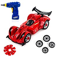 Build Your Own Toy Formula Racing Car Take-A-Part Toy for Kids with 24 Take Apart Pieces Tool Drill Lights and Sounds [並行輸入品]