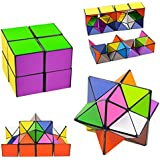 Infinity Cube Toy cAoku 3D Assembly Puzzle 2018 Newest Magic Puzzle Toy Unlimited Fold Cube with Triangular Accessory Inside Brain Teasers Stress Anxiety Relief Toy