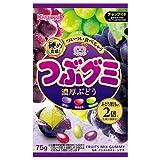 春日井製菓 つぶグミ濃厚ぶどう 75g×6袋入×(2ケース)