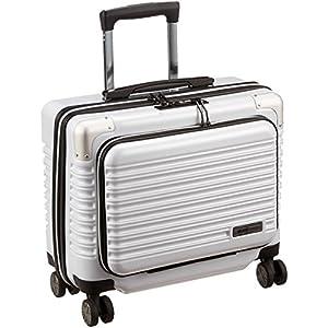 [シフレ] ハードジッパースーツケース フロントオープン 機内持込可 保証付 25.0L 40cm 2.48kg MCL2065-34 カーボンホワイト カーボンホワイト