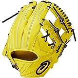 asics(アシックス) 硬式 野球用 グローブ 内野手用 (右投げ用) 高校野球対応 GOLD STAGE SPEED AXEL ゴールドステージ スピードアクセル サイズ7 2019年モデル 3121A183 Pゴールド/ブラック LH(右投げ用)