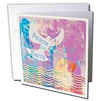 フローレンユダヤテーマ–イメージの水彩Dove with Peace on Earth–グリーティングカード Set of 12 Greeting Cards