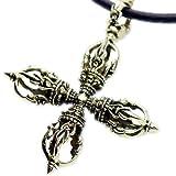 [Silver1]ku 幻影旅団 クロロ ダブルドルジェ ペンダント Hunter x Hunter ハンターハンター ダブルドージェ グッズ メンズ