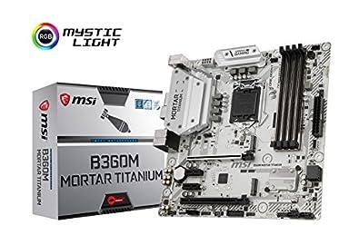MSI B360M MORTAR TITANIUM M-ATX マザーボード [Intel B360チップセット搭載] MB4367