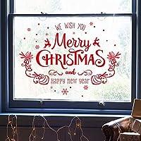ZHCAIY 新しいお祝いのクリスマスの飾りは、店の窓のステッカーガラス店頭ドアステッカー壁のステッカーに配置された3PCS / LOT (Color : A, Size : 50*70cm)