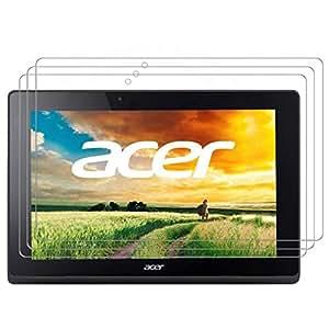 【3枚パック】【RISEオリジナル】Acer Aspire Switch 10E 液晶保護フィルム 超光沢  透き通る美しさが特徴の超光沢液晶保護フィルム …