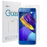 Huawei Honor 9 強化ガラスフィルム【Qosea】Huawei Honor 9 液晶保護フィルム 気泡ゼロ 99%高透過率 硬度9H 指紋防止 飛散防止 耐衝撃 超薄0.3mm 2.5D ラウンドエッジ加工 (Huawei Honor 9, 強化ガラスフィルム)