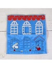 MOOMIN ムーミン 刺繍タオルハンカチ/家の前のリトルミイ