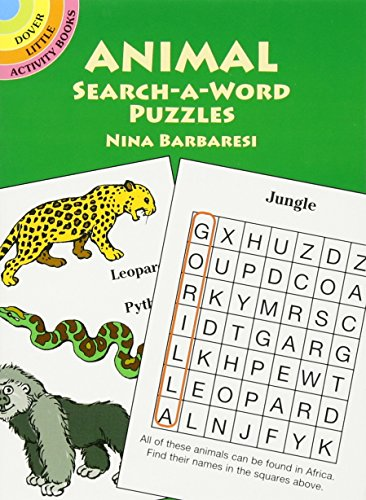 Animal Search-a-Word Puzzles (Dover Little Activity Books)