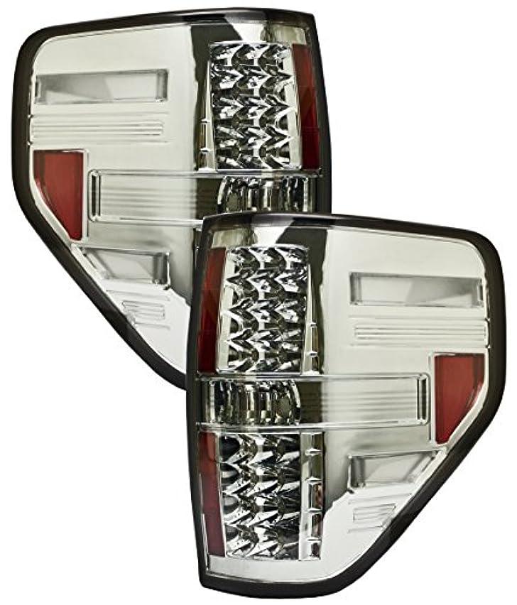 見る人祭りオーチャードIPCW LEDT-568S2 Ford F150, F250 Ld 2009 - 2012 Tail Lamps, LED Platinum Smoke