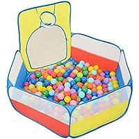 FRMARCH 折り畳み式 カラー ボールプール バスケットゴール付き 子供用テント 組み合わせた室内遊具 公園玩具 おもちゃ 知育玩具