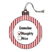 Emmaline is いたずらなアクリルクリスマスオーナメント