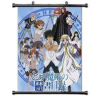 "To Aru Majutsu No Indexアニメファブリック壁スクロールポスター( 16"" x 21"" )インチ"