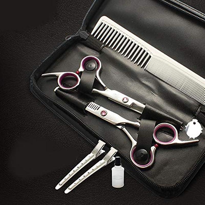 マークダウンやる行き当たりばったり6インチプロフェッショナル理髪子供用はさみセット ヘアケア (色 : ピンク)