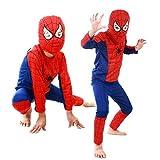 MyMei スパイダーマン 子供衣装 キッズコスチューム なりきり spiderman 変身 マーベル コスプレ 仮装 ハロウィン パーティ イベント (M)
