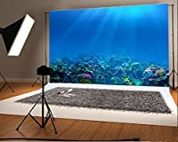laeaccoビニール7 x 5ft写真背景Corals under the sea world Deep Underwater Benthos自然景色テーマBackdrops Portraits ShootingビデオStudio Props 2.2 X 1.5 M