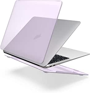 13.3インチ MacBook Air対応 【SLEO】パソコンケース MacBook Airケース 薄型 軽量 耐衝撃 防塵カバー 排熱口設計 シンプル (対応モデル:2018 MacBook Air 13.3 A1932) - パープル