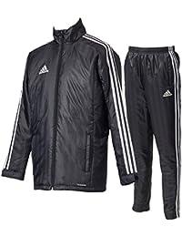 アディダス(adidas) SHADOW ウォーマージャケット&ウォーマーパンツ(中綿)上下セット(ブラック) DLK14-BR2068-DLK23-BR2066