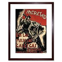 War Spanish Civil Enlist Recruit Military Spain Vintage Ad Art Framed Wall Art Print 戦争スペイン語市民登録するリクルート軍隊スペインビンテージ壁