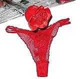 赤い バラ 一輪 ショーツ 入り Tバック パンティ 薔薇 彼女への H な サプライズ プレゼント