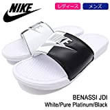 (ナイキ) NIKE サンダル ユニセックス ベナッシ JDI White/Pure Platinum/Black 25cm(US7)