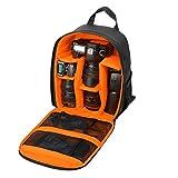 カメラバッグ カメラケース 一眼レフ ショルダーバッグ Canonに対応 大容量 防水 軽量 男女兼用 (オレンジ)