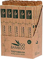 Go Bamboo Adult Toothbrush, 25 Count