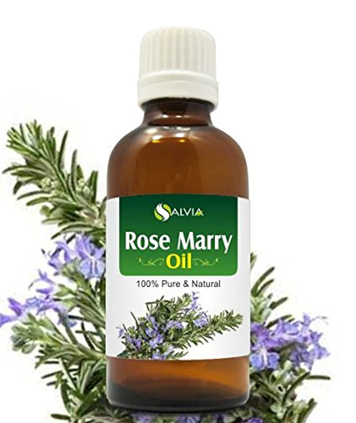 冗長原告忘れっぽいROSE MARY OIL 100% NATURAL PURE UNDILUTED UNCUT ESSENTIAL OIL 15ML