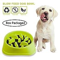 ゆっくり食べる 餌やり / 早食い防止食器 ペット 犬( ピンク)