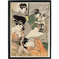 喜多川歌麿 ポスター 風俗画 グッズ 浮世絵 雑貨 インテリア 絵画 美術 アート