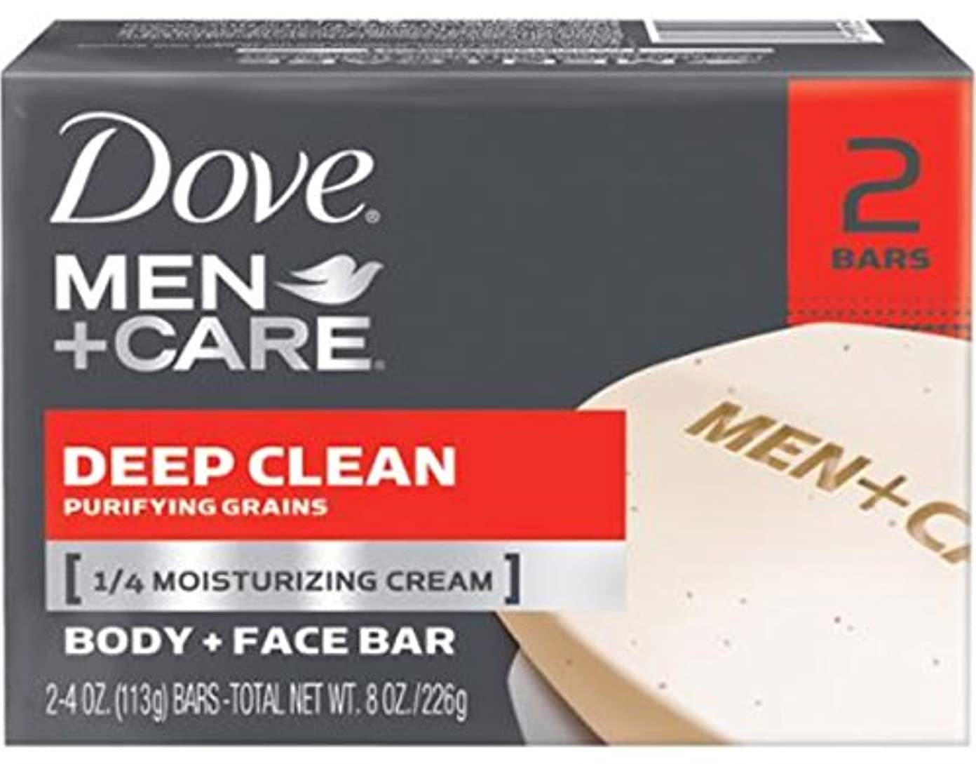 寝室を掃除する熟した器用Dove 男性+ケアボディ&フェイスバー、ディープクリーン4.25オズバー、2 Eaと(10パック) 10のパック