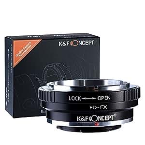 K&F Concept® マウントアダプター FD-FX レンズマウントアダプター キヤノンFDマウントレンズ - FUJIFILM富士フィルムXマウントボディ用レンズアダプター マウント 変換アダプター