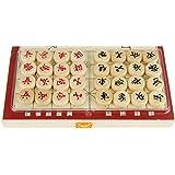 chiwanji 将棋盤 木製 チェス盤 折り畳み式 携帯用 中国風