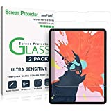 amFilm iPad Pro 12.9 Screen Protector (2020 and 2018 Models), Case Friendly (Rounded Edge) Tempered Glass Film Screen Protect