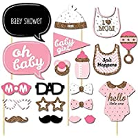 Lowis Lily 20pcs Baby Shower Decorations Born Its A Boy Girl Photo Booth Props Birthday Party Decor Photography - Frame