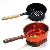【炭関連商品】 火おこし(鍋型) と台付台十能 (アルミ製) の便利セット