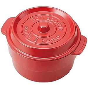 お弁当箱 ココポット ラウンド レッド (上段)230ml、(下段)300ml T-56440