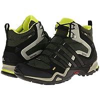 アディダス (adidas) 海外限定モデル 防水トレッキングシューズ 24.5cm テレックス Terrex FAST X HI GTX ゴアテックス ハイカットモデル B39847 ブラック×イエロー 国内正規品