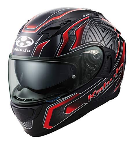 オージーケーカブト(OGK KABUTO)バイクヘルメット フルフェイス KAMUI3 CIRCLE(サークル) フラットブラックレッド (サイズ:S) 585679