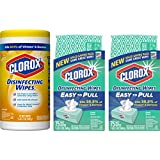 Clorox Disinfecting Wipes Value Pack, Bleach Free Cleaning Wipes - 75 Count Each (Pack of 3)