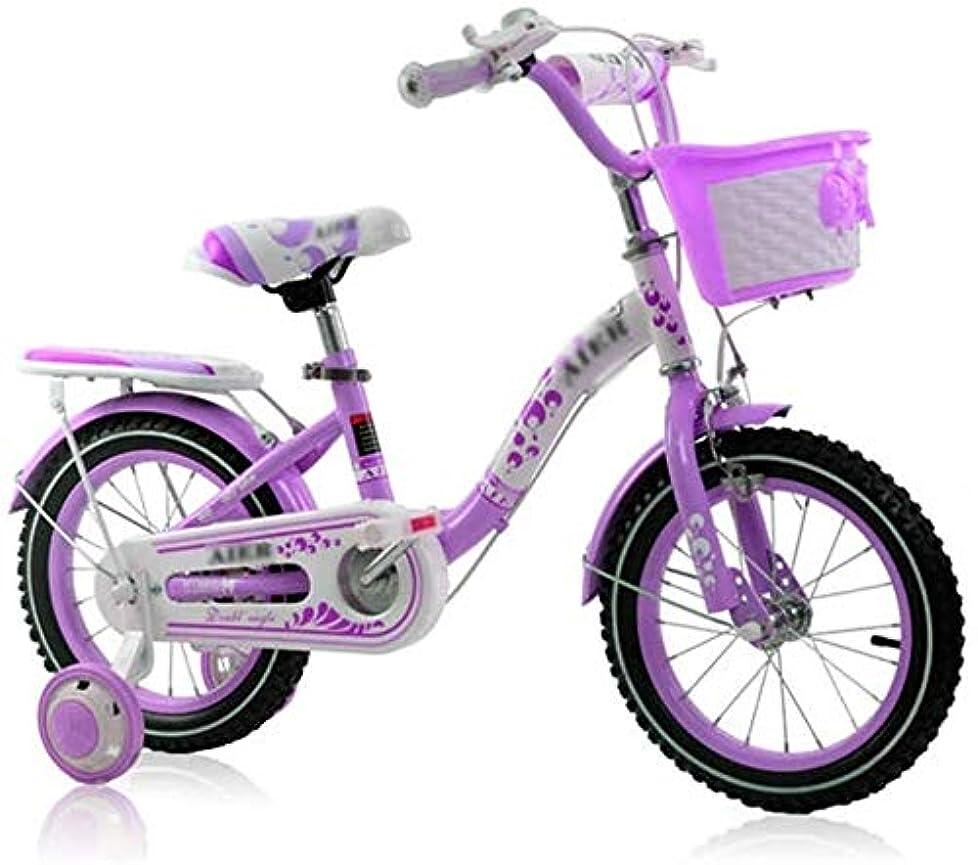 叙情的な見かけ上熱狂的な自転車 プリンセス自転車ガールサイクリング三輪車屋外子供の自転車スポーツバイクボーイアウトドアスポーツ自転車2?12歳の子供の自転車は、自転車 (Color : Purple, Size : 18inches)