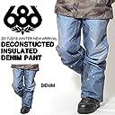 686 SIX EIGHT SIX(シックスエイトシックス) スノーボードウェア DECONSTRUCTED INSULATED DENIM PANT メンズ デニム パンツ kcr209-DENIM-M