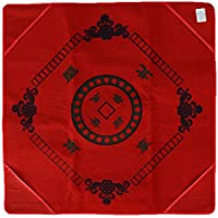 Fenteer 麻雀 テーブル布 マット チェスマット カバー パーティ ゲーム エンターテインメント 全2色  - 赤