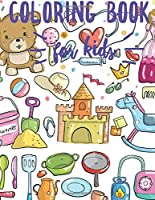 Coloring Book For kids: Fun with Letters, Numbers, Colors, Shapes,Trucks, Planes, Cars and Animals. toddler coloring book ages 1-3 and 2-4 , coloring book for Boys, Girls, activity books for preschooler .