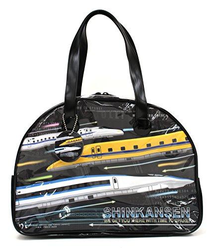 【キッズビーチバッグ】ボストンバッグ、プールバッグ、子供用 (リアルシンカンセン059267)