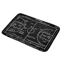 Aremetop スポーツバスマット バスケットボール ファン レジャー ナショナル スポーツ アクティビティ フランネル 吸収性 ドアマット ノンスリップ バスルーム ラグ キッチン フロア マット カーペット バスマット サイズ 17.5インチx29.5インチ 17.5'' x 29.5''
