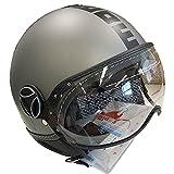 モモ デザイン (MOMO DESIGN) ジェットヘルメット FGTR EVO チタニウムフロスト XLサイズ MD1001003029-XL
