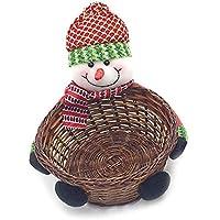 House-by クリスマス 新型 バスケット プレゼント 贈り物 キャンディーバスケット 収納バスケット 収納箱 クリスマスプレゼント 可愛い飾り 雪だるま 子供のおもちゃ