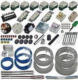 準備万端シリーズ (2回練習分) 第二種電気工事士技能試験練習用材料「全13問分の器具・電線セット」
